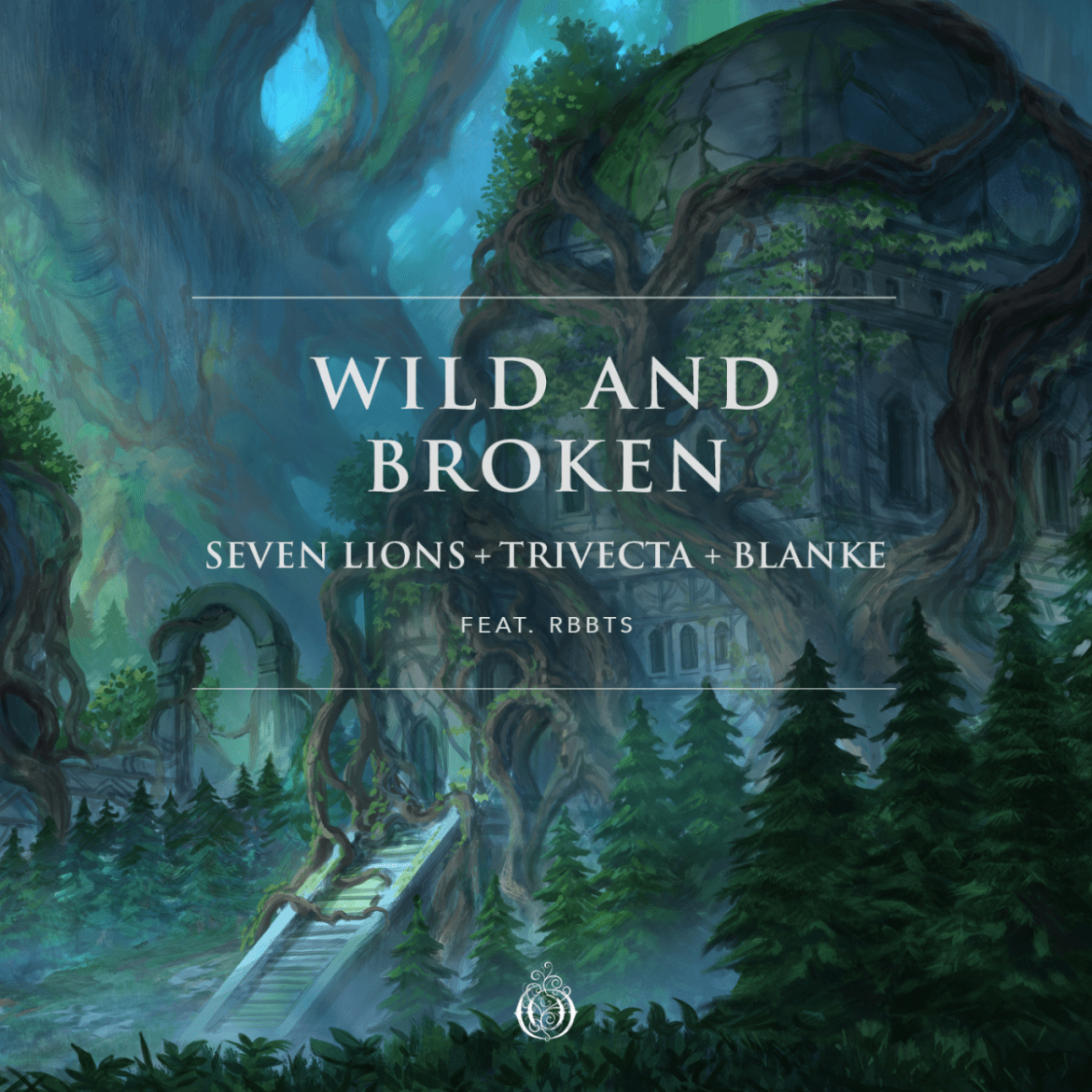 """Artwork for Seven Lions, Trivecta, Blanke, and RBBTS' """"Wild And Broken."""""""