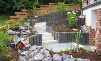 Gartengestaltung hanglage bilder