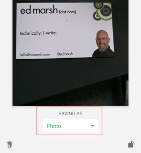 If your information isn't structured correctly, then Evernote doesn't recognize it as a business card.