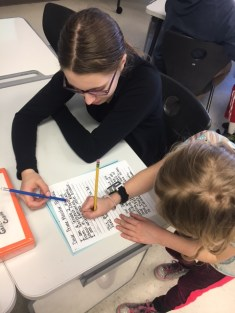 Writing letters with Gr. 9