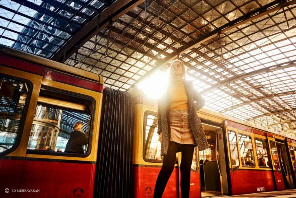 Portrait Photography in Berlin Hauptbahnhof