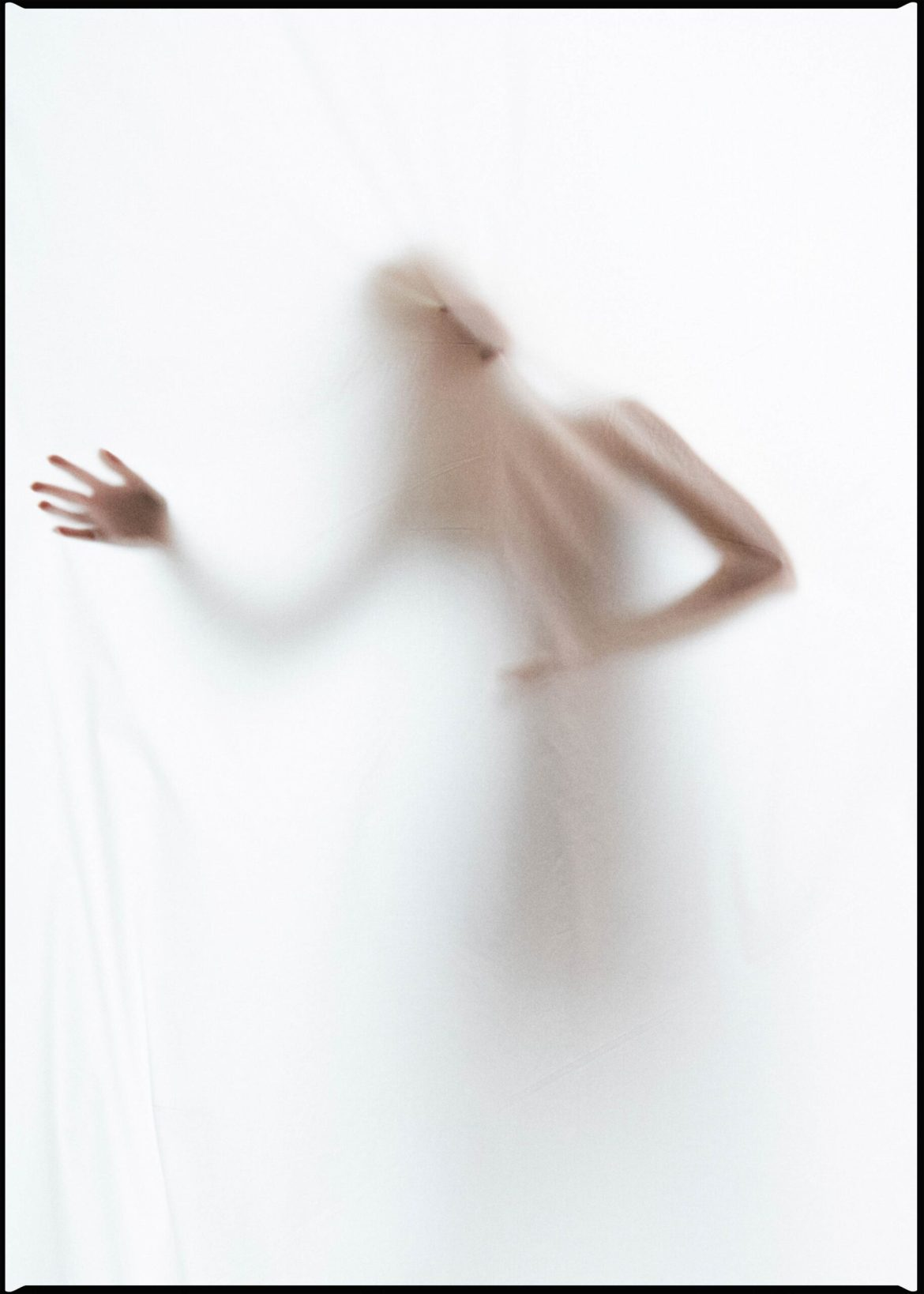 Silence photo series with Abstract figurative human bod forms
