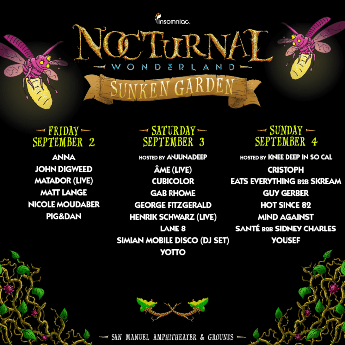 nocturnal wonderland 2016 daily stage by stage lineups edm identity