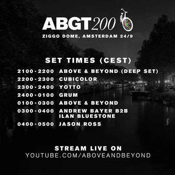 #ABGT200 Set Times ABGT200