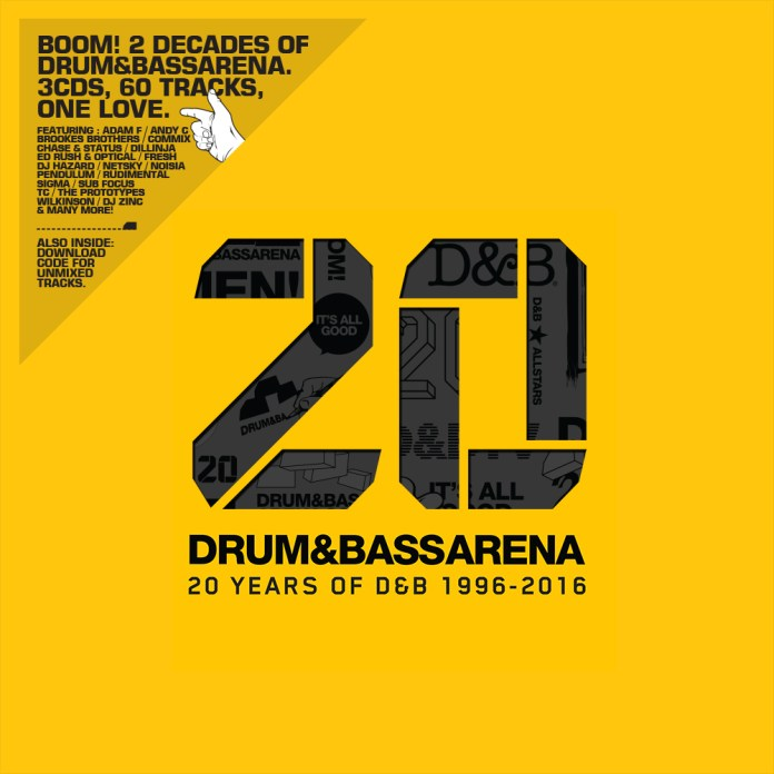 4efa735693 Drum&BassArena is celebrating their 20th Anniversary with an epic, three  disc compilation album!