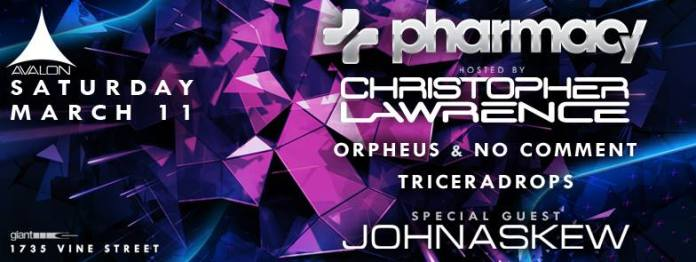 Christopher Lawrence Pharmacy Records Avalon Hollywood