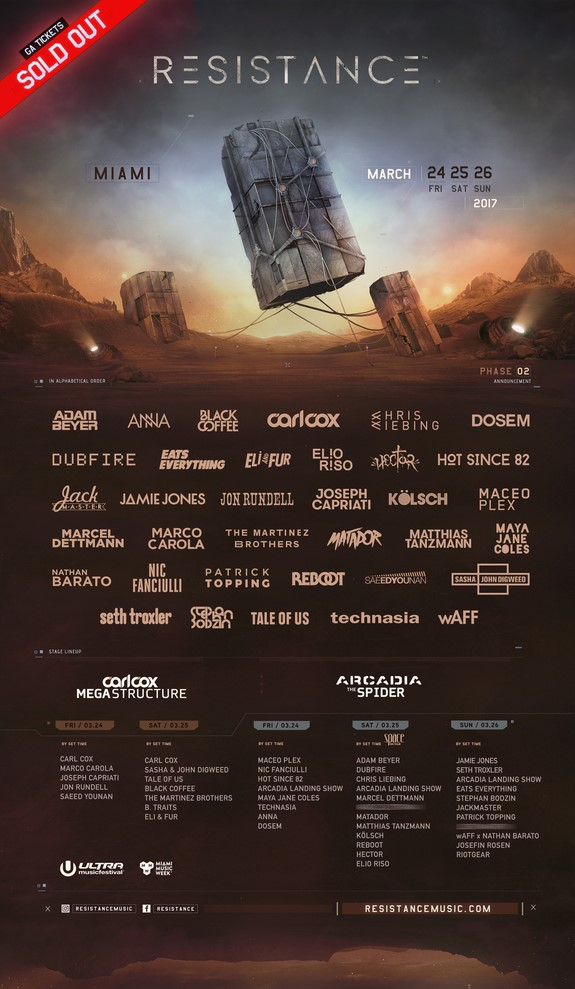 Ultra Music Festival 2017 Resistance Phase Two