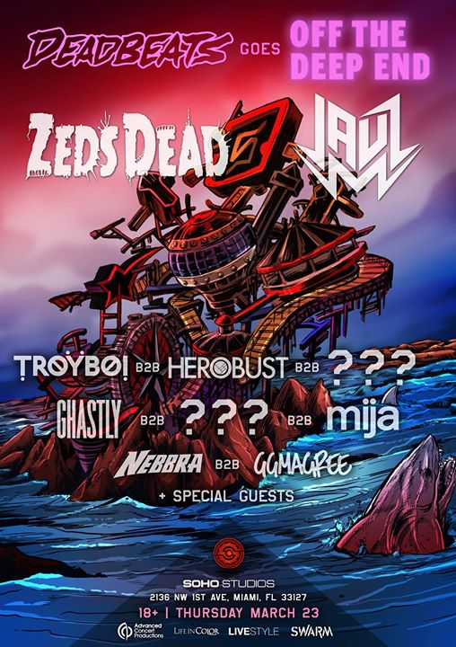 Deadbeats Goes Off The Deep End MMW 2017 Flyers