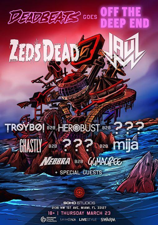 Deadbeats Goes Off The Deep End MMW 2017 Flyers