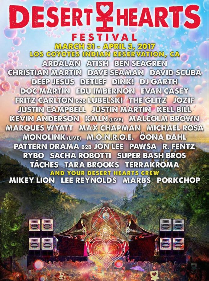 Desert Hearts Festival 2017 Lineup