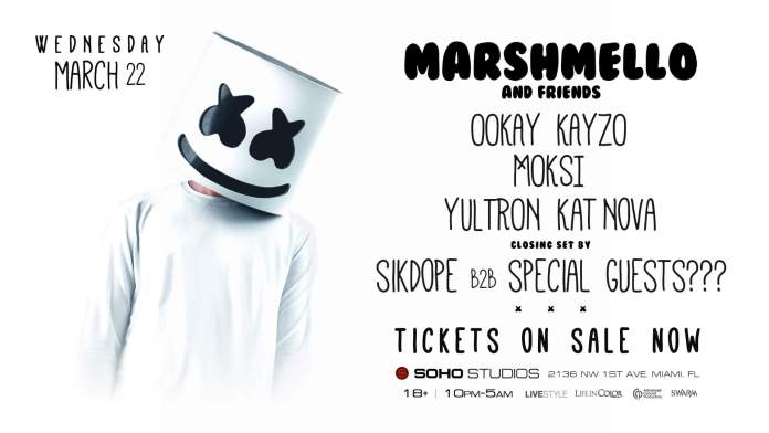Marshmello and Friends MMW 2017