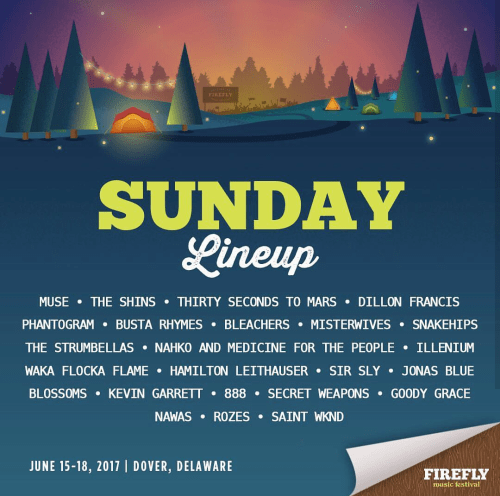 Firefly Music Festival 2017 - Sunday