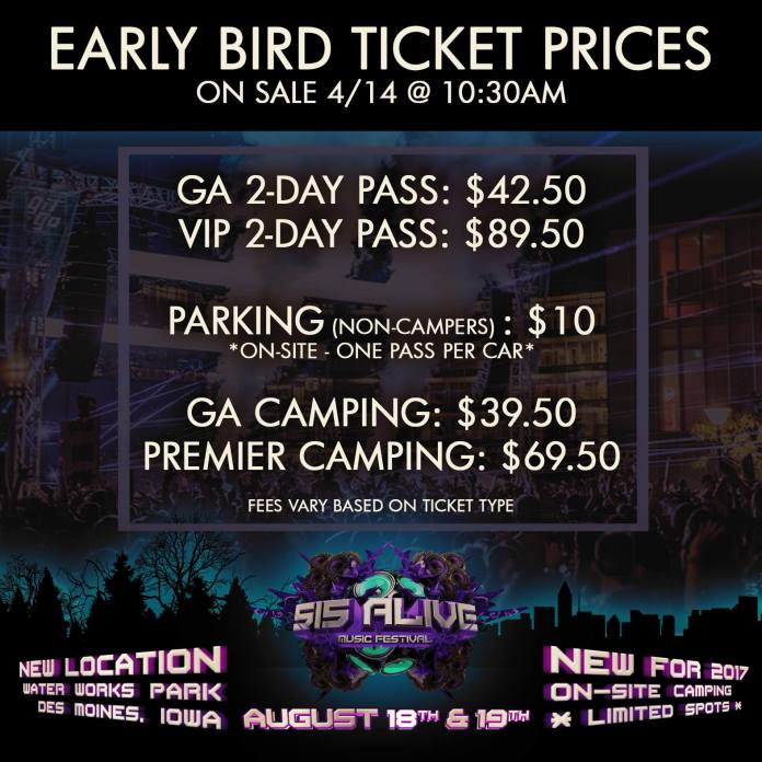 515 Alive Early Bird Ticket Prices