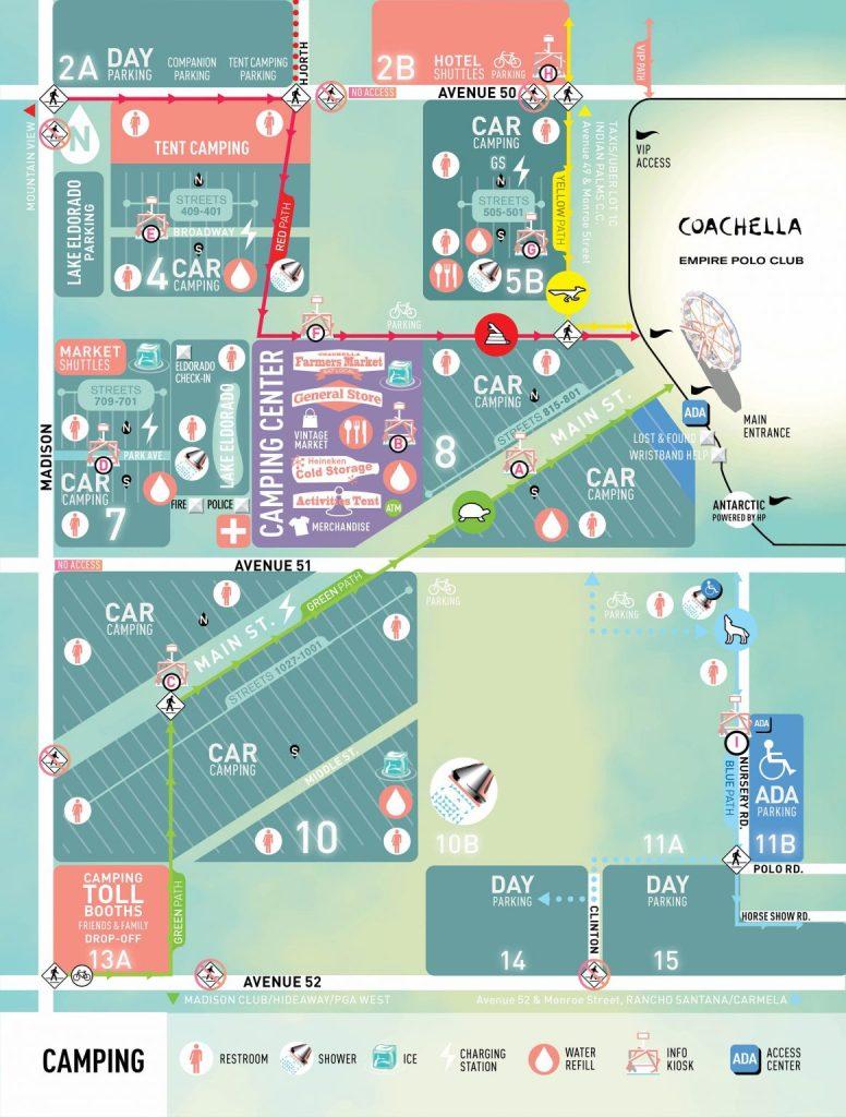 Coachella 2017 Camping Map