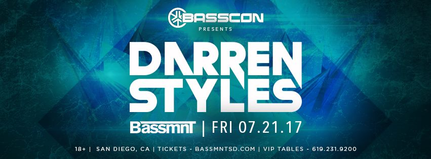 Darren Styles @ Bassmnt || Event Preview
