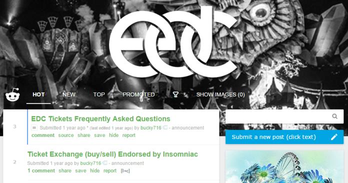 Reddit EDC Ticket Exchange