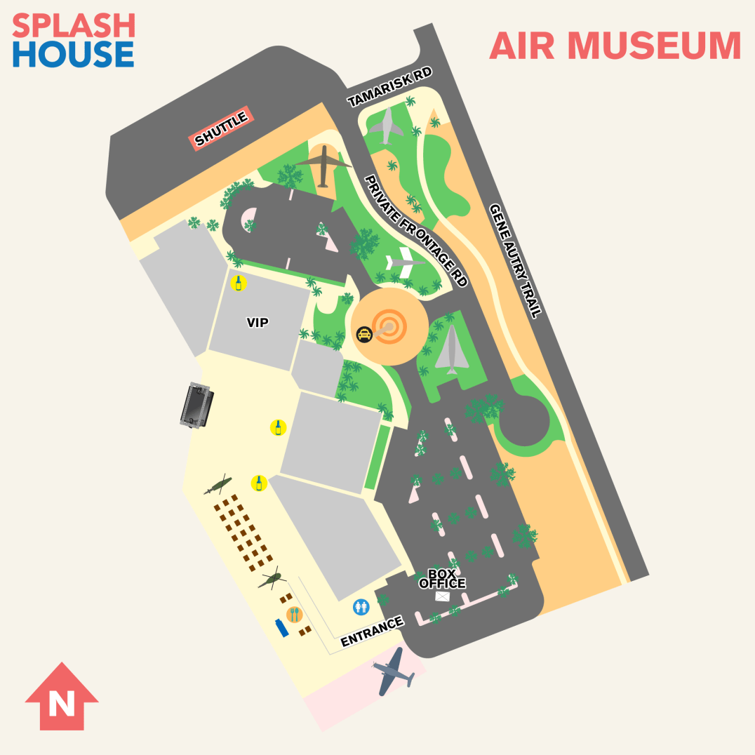 Splash House 2017 August Map Air Museum