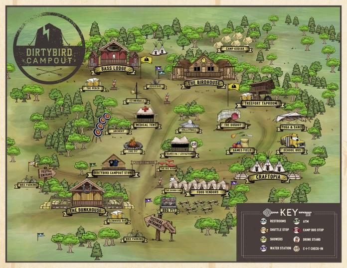 Dirtybird Campout 2017 Festival Map