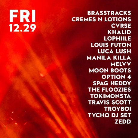 Snowglobe 2017 Friday lineup