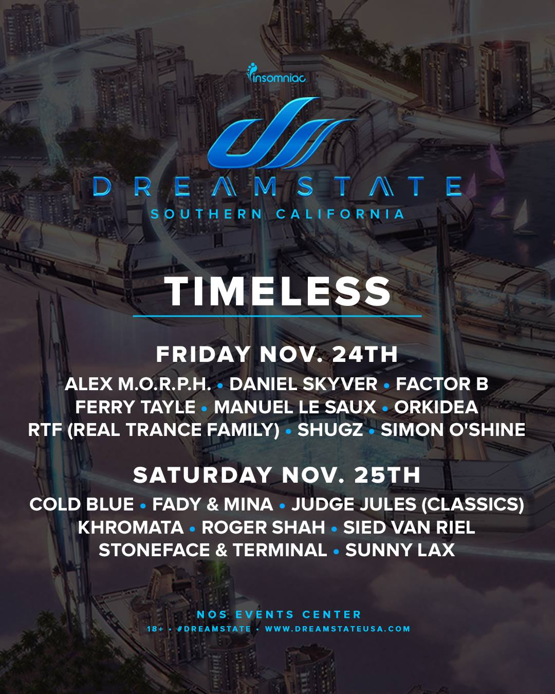 Dreamstate SoCal 2017 Timeless