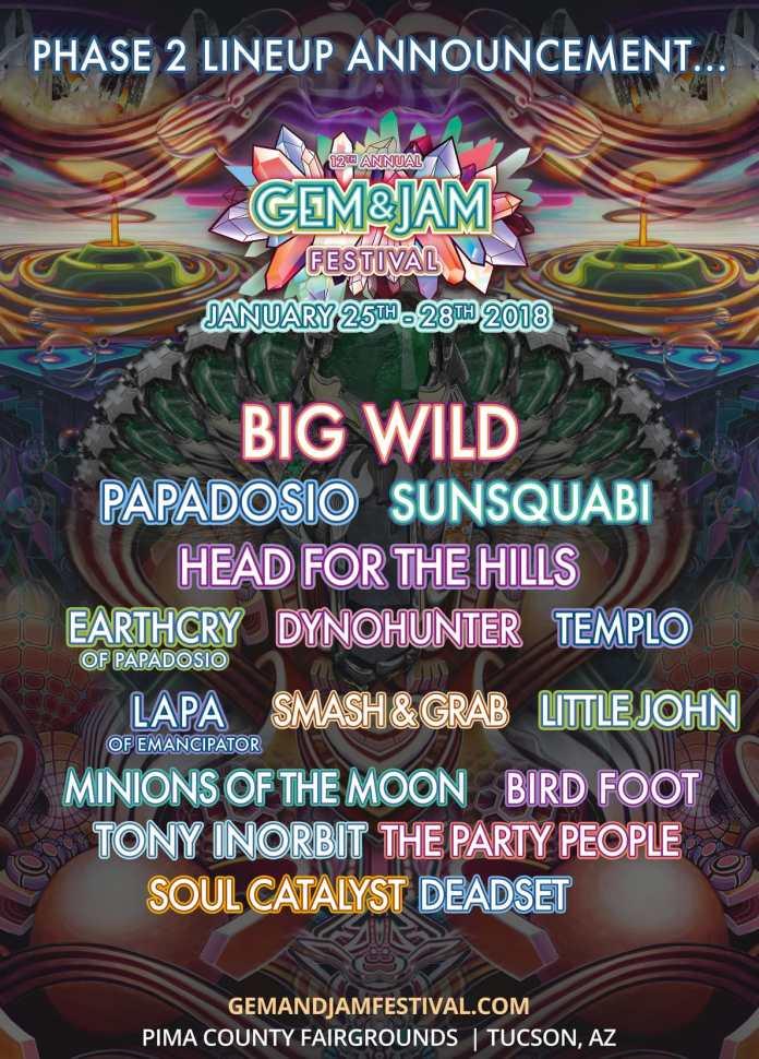 Gem & Jam Festival Phase 2 Lineup
