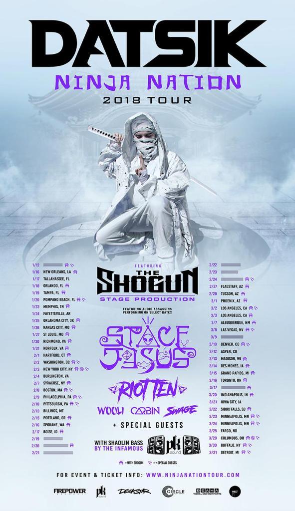 Datsik Ninja Nation Tour