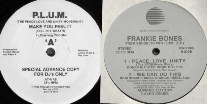 Frankie Bones Peace Love Unity Vinyl
