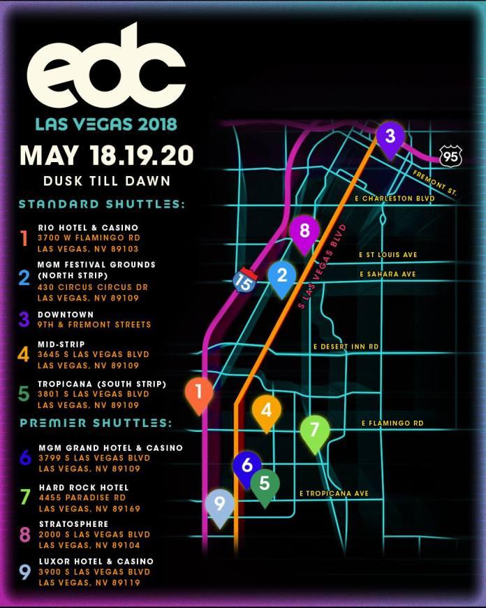 EDC Las Vegas 2018 Set Times, Festival Map, & More! | EDM Identity