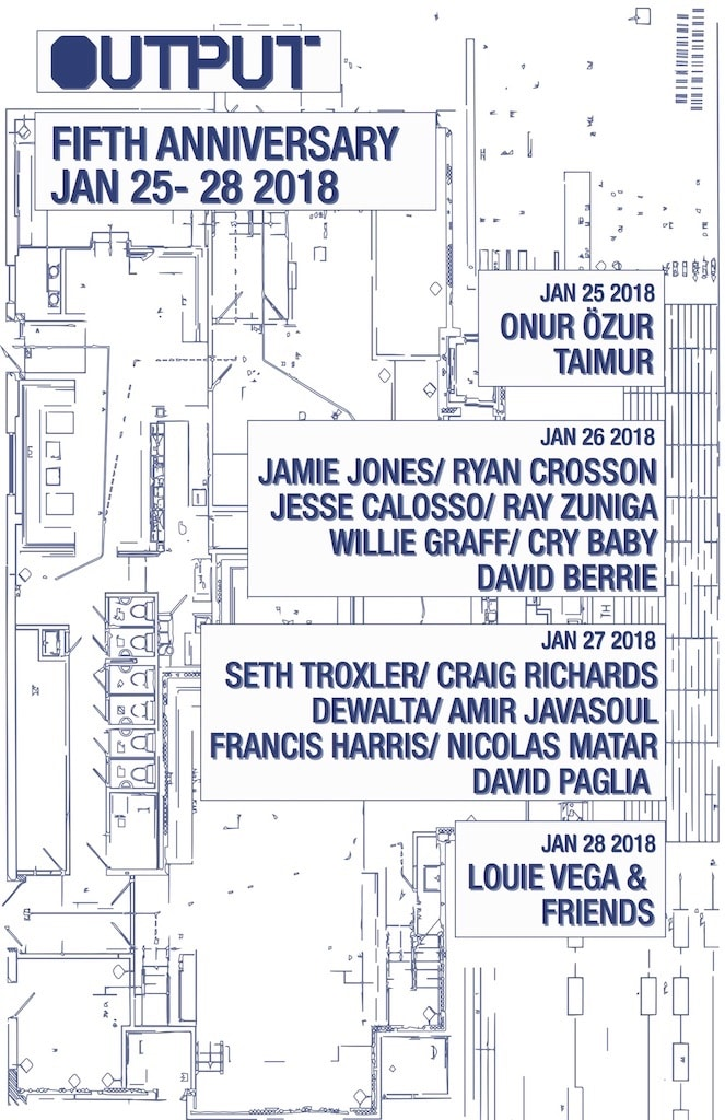 Output Fifth Anniversary Lineups