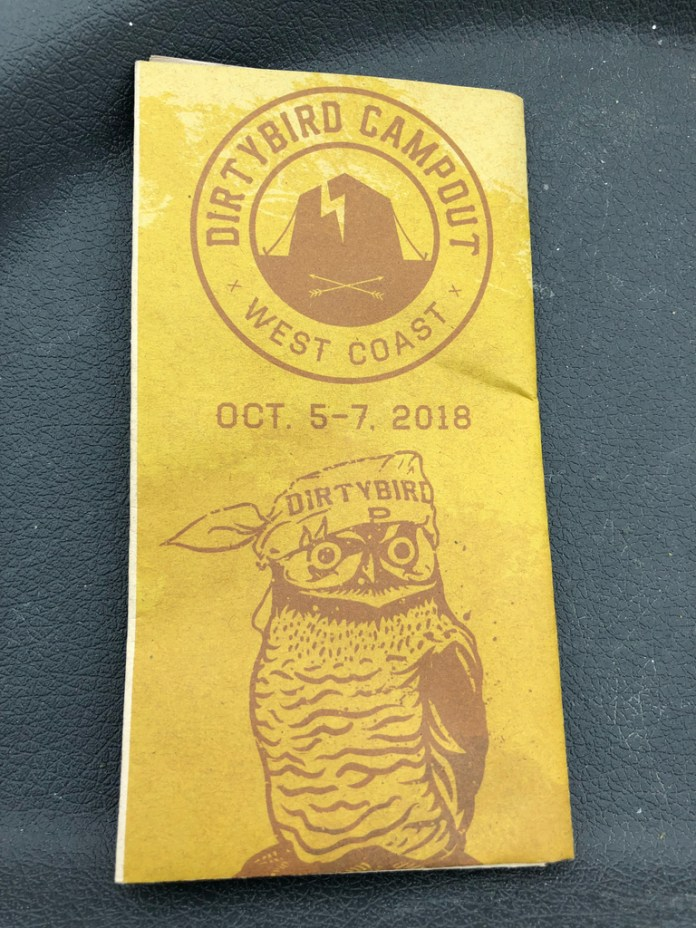 Dirtybird Campout West 2018 Dates