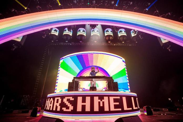 Marshmello at the Los Angeles Convention Center