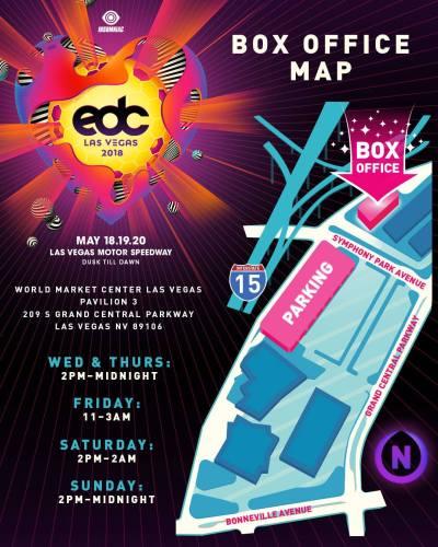 EDC Las Vegas 2018 - Box Office Map