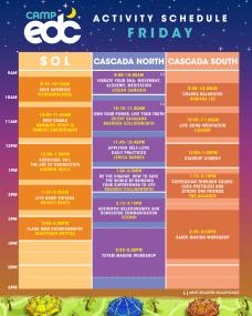 EDC Las Vegas 2018 - Camp EDC Schedule - Friday