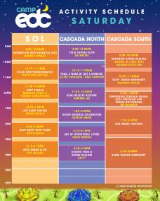 EDC Las Vegas 2018 - Camp EDC Schedule - Saturday