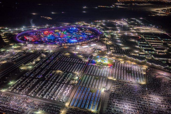 EDC Las Vegas 2018 Aerial with Camping
