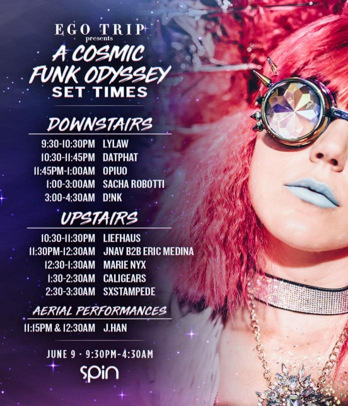 Ego Trip presents A Cosmic Funk Odyssey Set Times