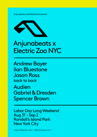Electric Zoo 2018 Anjunabeats Stage Takeover