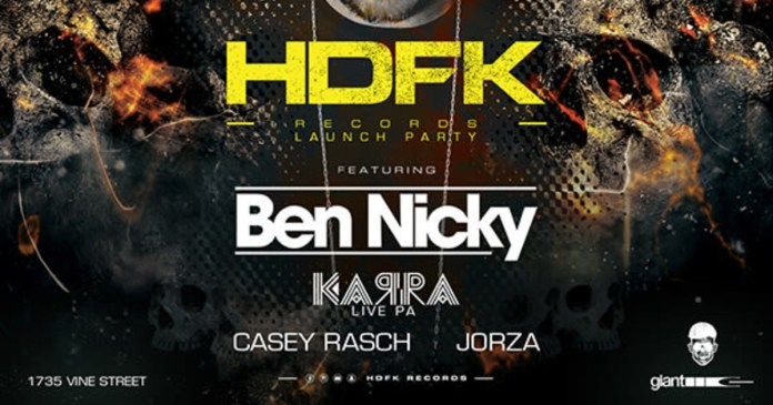 AVALON Presents HDFK Records Launch Party Ben Nicky
