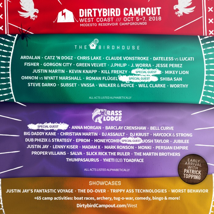Dirtybird Campout West Coast 2018 Lineup