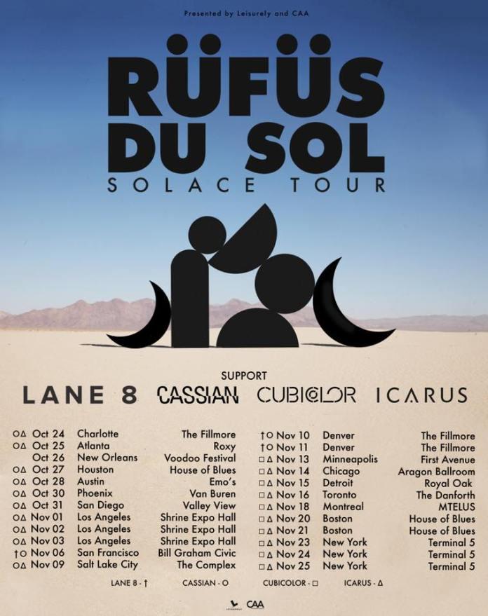RUFUS DU SOL Solace Tour