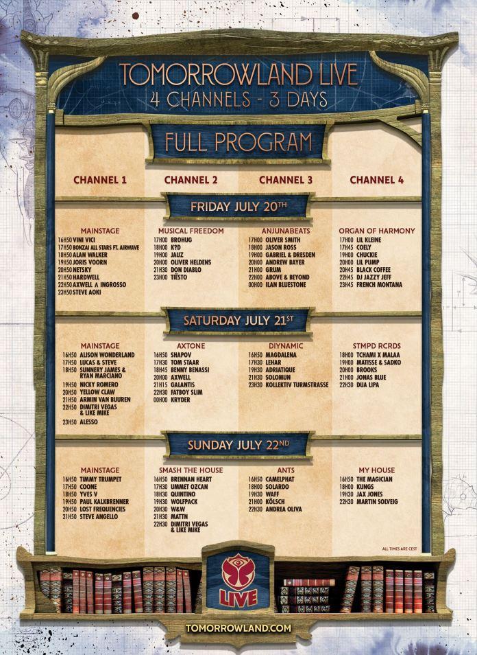 Tomorrowland 2018 Live Stream Schedule Weekend 1