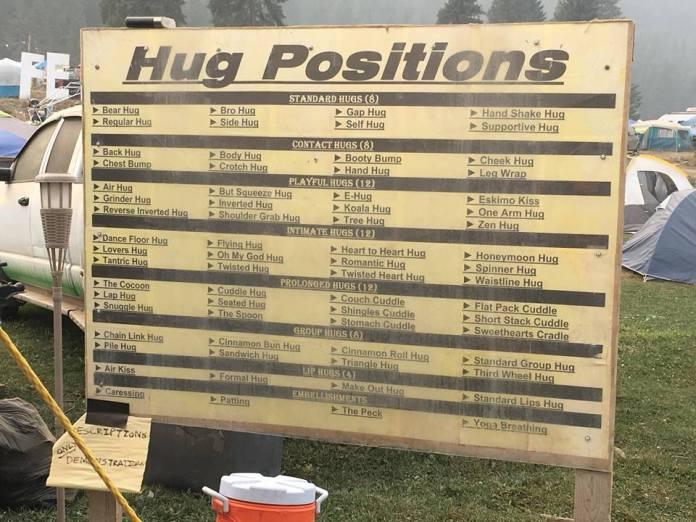 Hug Positions Shambhala 2018