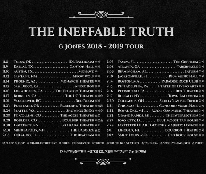 G Jones The Ineffable Truth Album Tour