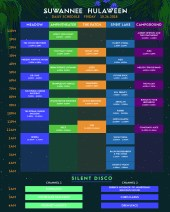 Suwannee Hulaween 2018 Set Times - Friday