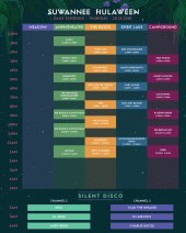Suwannee Hulaween 2018 Set Times - Thursday