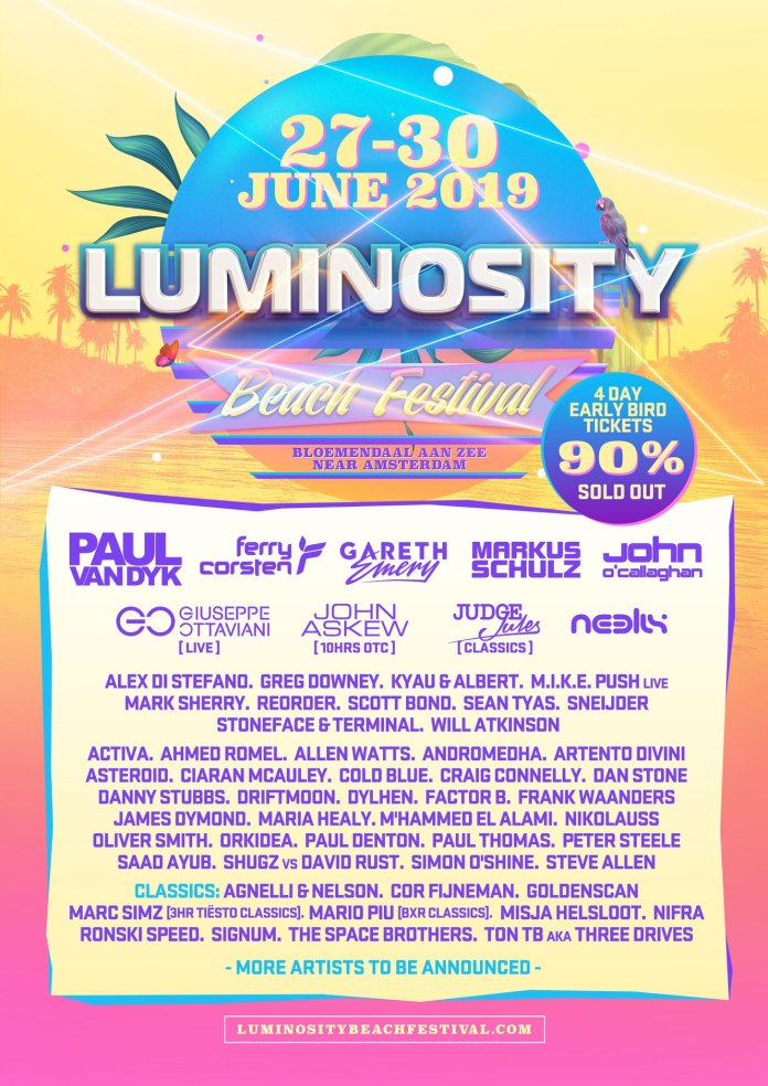 Luminosity Beach Festival 2019 Phase 2 Lineup