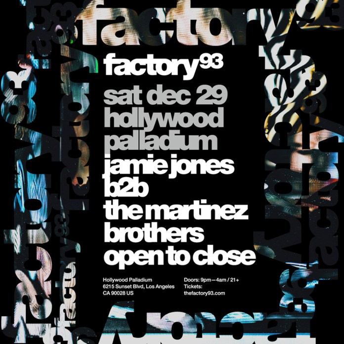 Factory 93 Jamie Jones b2b The Martinez Brothers