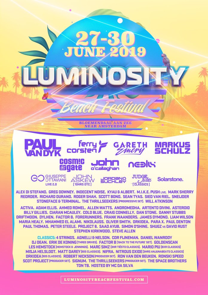 Luminosity Beach Festival 2018 - Full Lineup