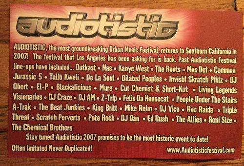 Audiotistic 2007 Flyer