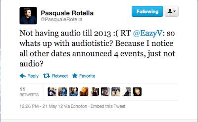 No Audiotistic In 2012 Tweet